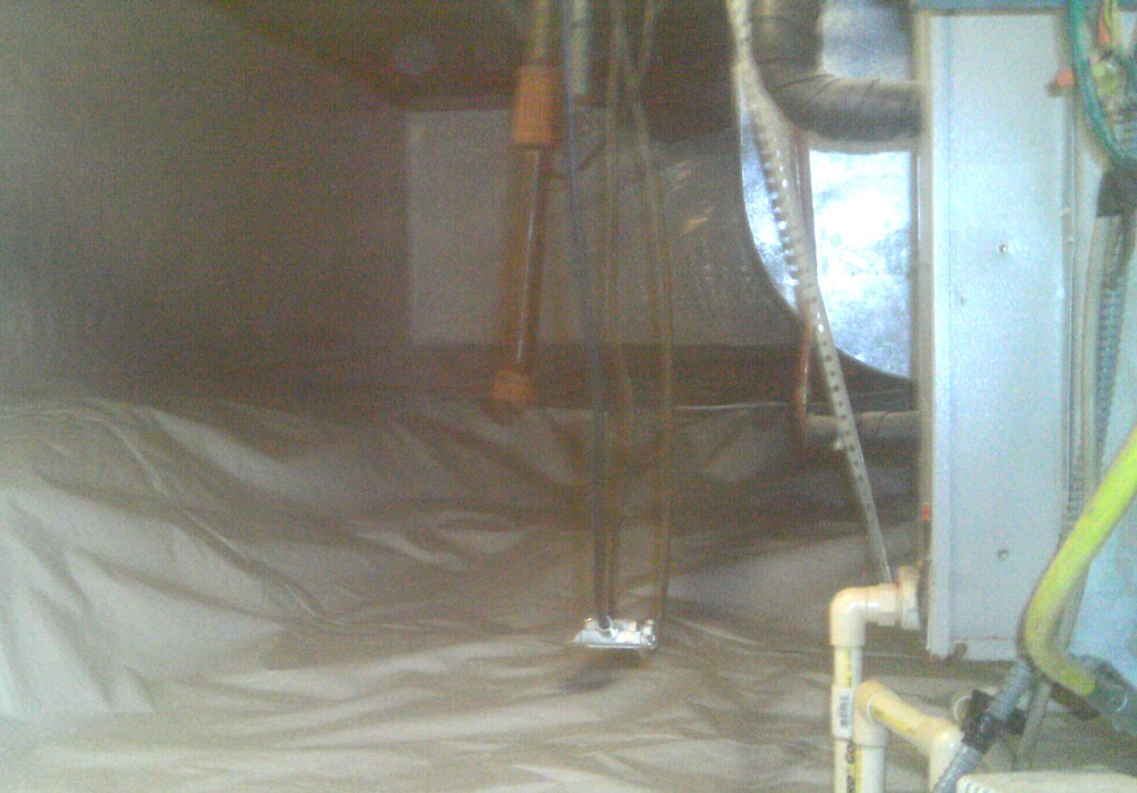 The crawl space was properly encapsulated from the ground to the top of the crawl space walls.