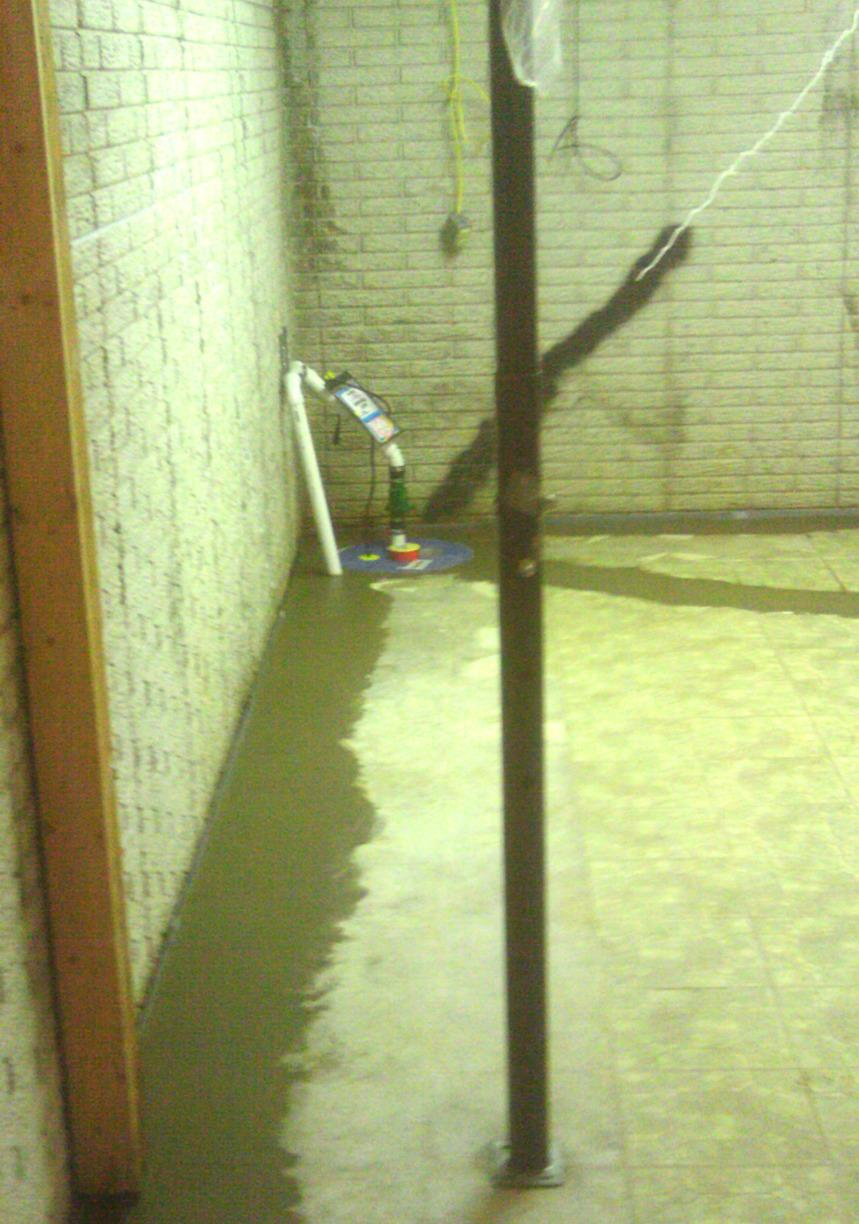 With the installation of innovative and effective systems such WaterGuard, this basement will stay dry rain or shine!