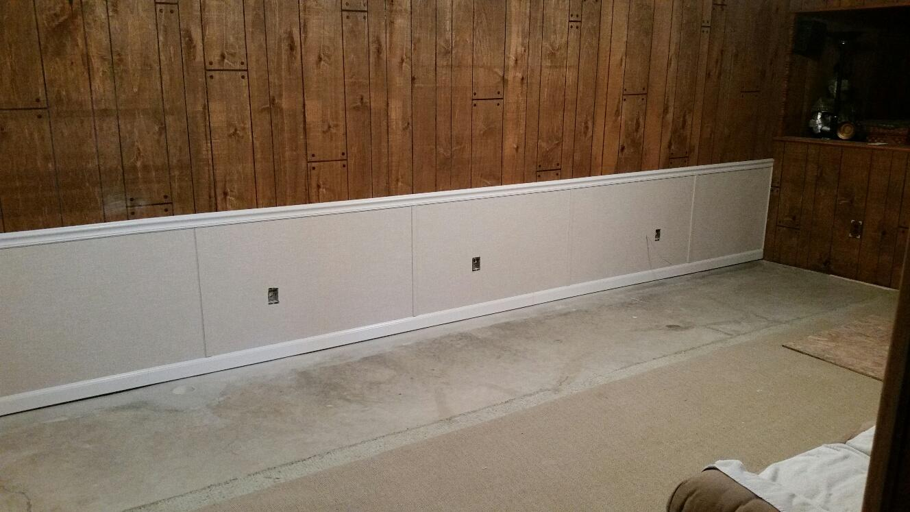 Beautiful picture of Everlast wall restoration in a local Cedar Rapidian's basement.