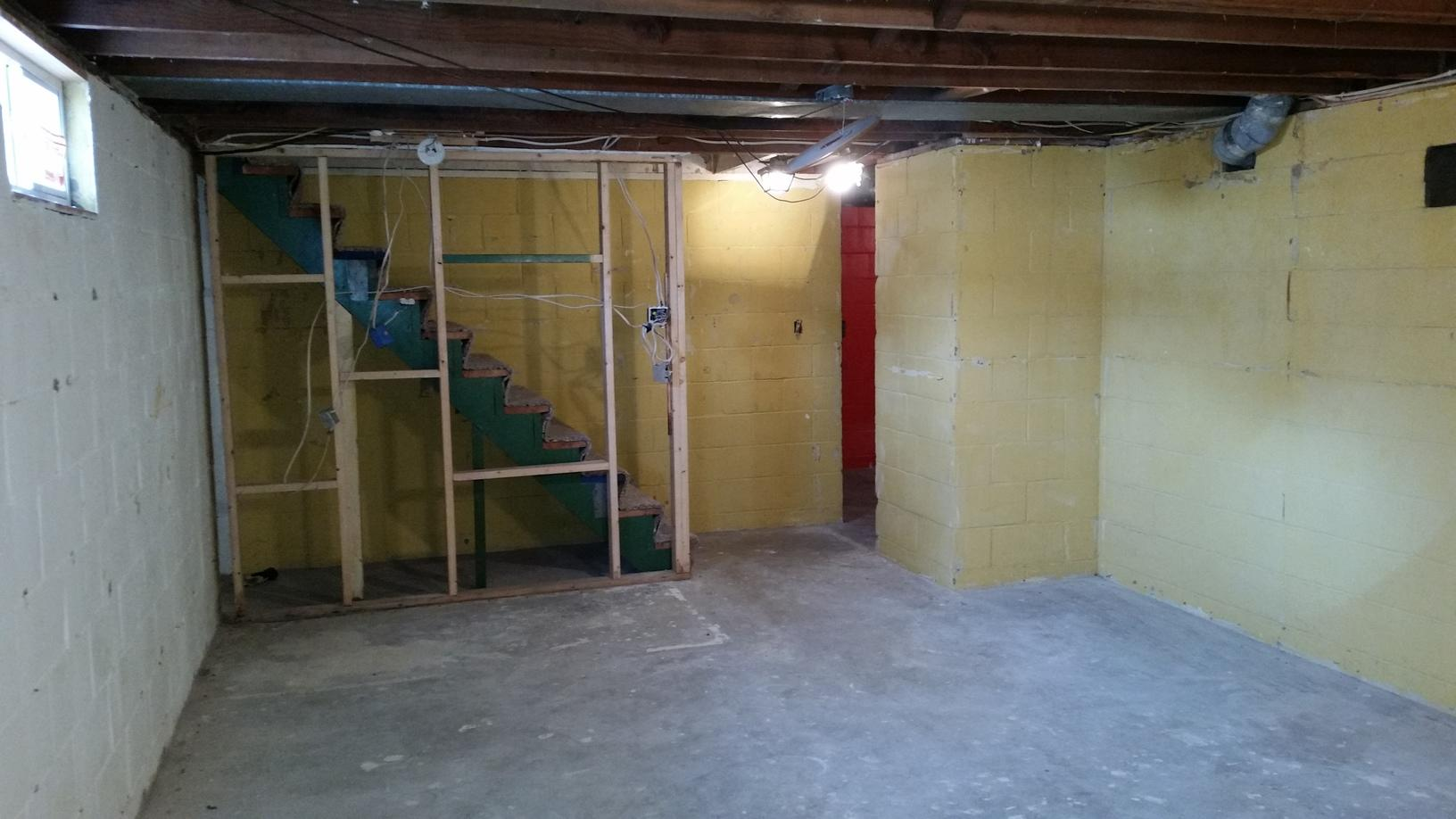 Before MidAmerica Basement Systems finished the basement, the basement left a lot to be desired.