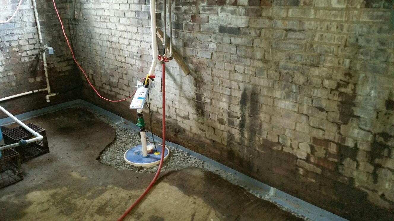 The 106 year old farmhouse was suffering water intrusion in the lower quarters. Bob T. of Letts, IA gave the experts at MidAmerica Basement Systems a call. Now, his basement is protected with WaterGuard and two new SuperSump sump pumps.