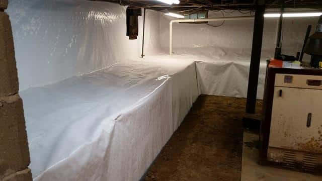 CleanSpace Wall Liner is a great vapor barrier