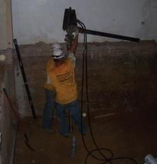 Hand held equipment used within the limited access area of the elevator pit.