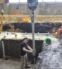 Preparing to connect extension toinstalled pile