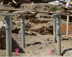 Installed piles
