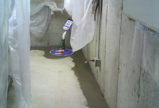 The finished project, resulting in a dry basement!