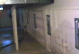 Vicki's permanently stabilized foundation walls.