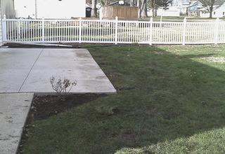 The team leaves Vicki WOWED by thoroughly cleaning up after the installation, back filling the augured holes and replacing sod.