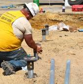 Fitting Installed Piles with new construction brackets