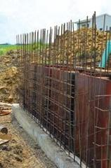 Blower equipment foundation supported byhelical piles