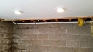 Leaking foundation put finishing project on hold.