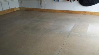 After PolyLevel, the slab is lifted and stabilized, eliminated the gap between the garage floor and walls.