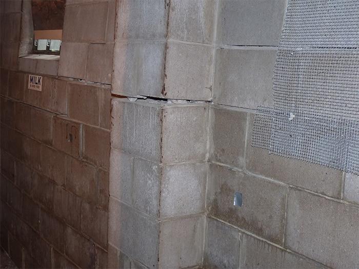 Block Wall Crack