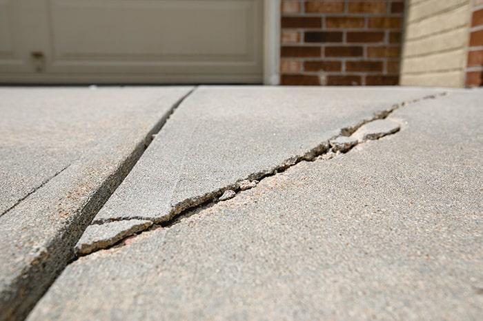 Garage Driveway Crack