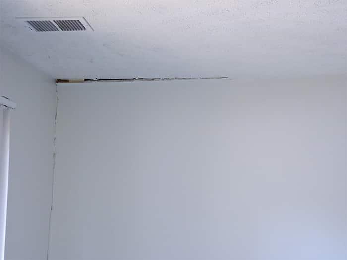 Interior Wall Gap